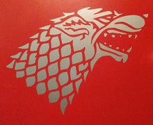 Load image into Gallery viewer, Game of Thrones Inspired Stark Wolf/Direwolf House Sigil Vinyl Decal for Car, Home, Yeti