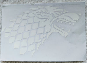 Game of Thrones Inspired Stark Wolf/Direwolf House Sigil Vinyl Decal for Car, Home, Yeti