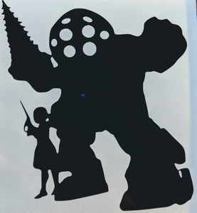Bioshock Big Daddy/Little Sister Vinyl Decal for Car, Home, Yeti, Electronics