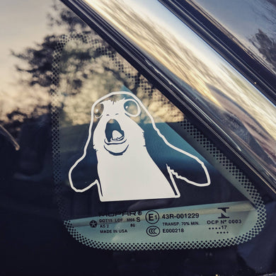 Star Wars The Last Jedi Porg Battle Cry Vinyl Decal for Car, Home, Yeti Tumbler