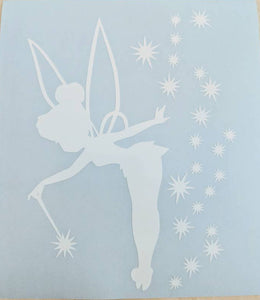 Tinkerbell w/ Stars and Wand Vinyl Decal for Car, Home, Electronics, Yeti