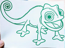 Load image into Gallery viewer, Rapunzel's Pascal Chameleon Vinyl Decal for Car, Home, Child's Room, Yeti, Laptop