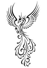 Load image into Gallery viewer, Tribal Phoenix With Open Wings Vinyl Decal for Car, Home, Yeti, Laptop