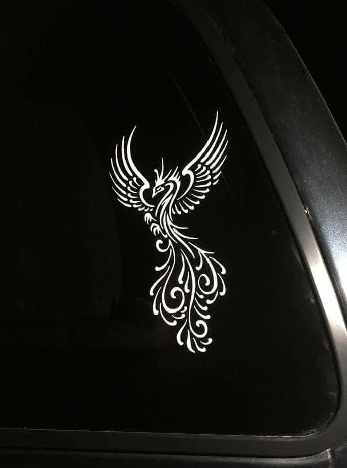 Tribal Phoenix With Open Wings Vinyl Decal for Car, Home, Yeti, Laptop