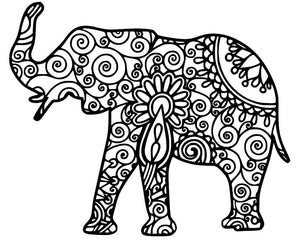 Intricate Mandala Elephant Vinyl Decal for Car, Electronics, Yeti or Home (Various Colors Available)