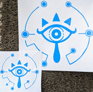 Zelda: Breath of the Wild Sheikah Slate Eye Symbol for Car, Home, Cell Phone