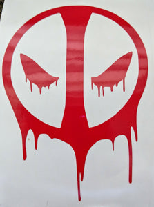 Dripping Deadpool Inspired Logo Vinyl for Car/Home/ Tumblers/ Lunch Box/ Gifts/and More!