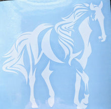 Load image into Gallery viewer, Copy of Horse Silhouette W/ Flowing Mane and Tail Vinyl Decal for Car, Home, Laptop
