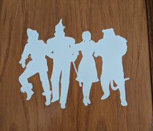 Load image into Gallery viewer, Wizard of Oz Dorothy, Tin Man, Scarecrow Cowardly Lion Vinyl Decal for Car,Home, Yeti, Laptop