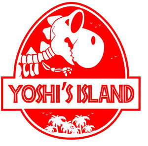 Jurassic Park/Yoshi's Island Mash Up Vinyl Decal for Car, Home, Yeti, Laptop, Tumbler