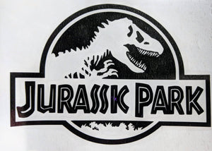 Classic Jurassic Park Logo Vinyl Decal for Car, Home, Electronics