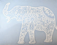 Load image into Gallery viewer, Intricate Mandala Elephant Vinyl Decal for Car, Electronics, Yeti or Home (Various Colors Available)