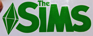 "PC Game ""The Sims"" 4 Logo with Plumbob or Plumbob only Vinyl Decal for Car, Laptop, Yeti, Home"