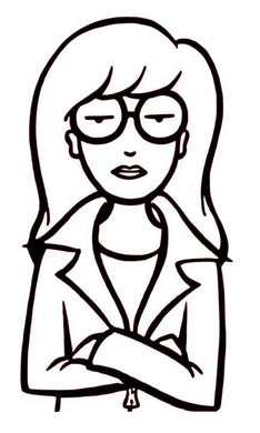 90's  Inspired Cartoon Style Daria Vinyl Decal for Car, Home, Yeti, Electronics, and More!