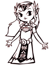 Load image into Gallery viewer, Legend of Zelda: Wind Waker Princess Zelda Vinyl Decal for Car, Home, Yeti, Laptop