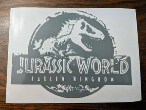 Jurassic World Fallen Kingdom Logo Vinyl Decal for Car, Home, Laptop, School Supplies, Yeti and More!