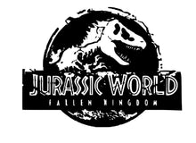 Load image into Gallery viewer, Jurassic World Fallen Kingdom Logo Vinyl Decal for Car, Home, Laptop, School Supplies, Yeti and More!