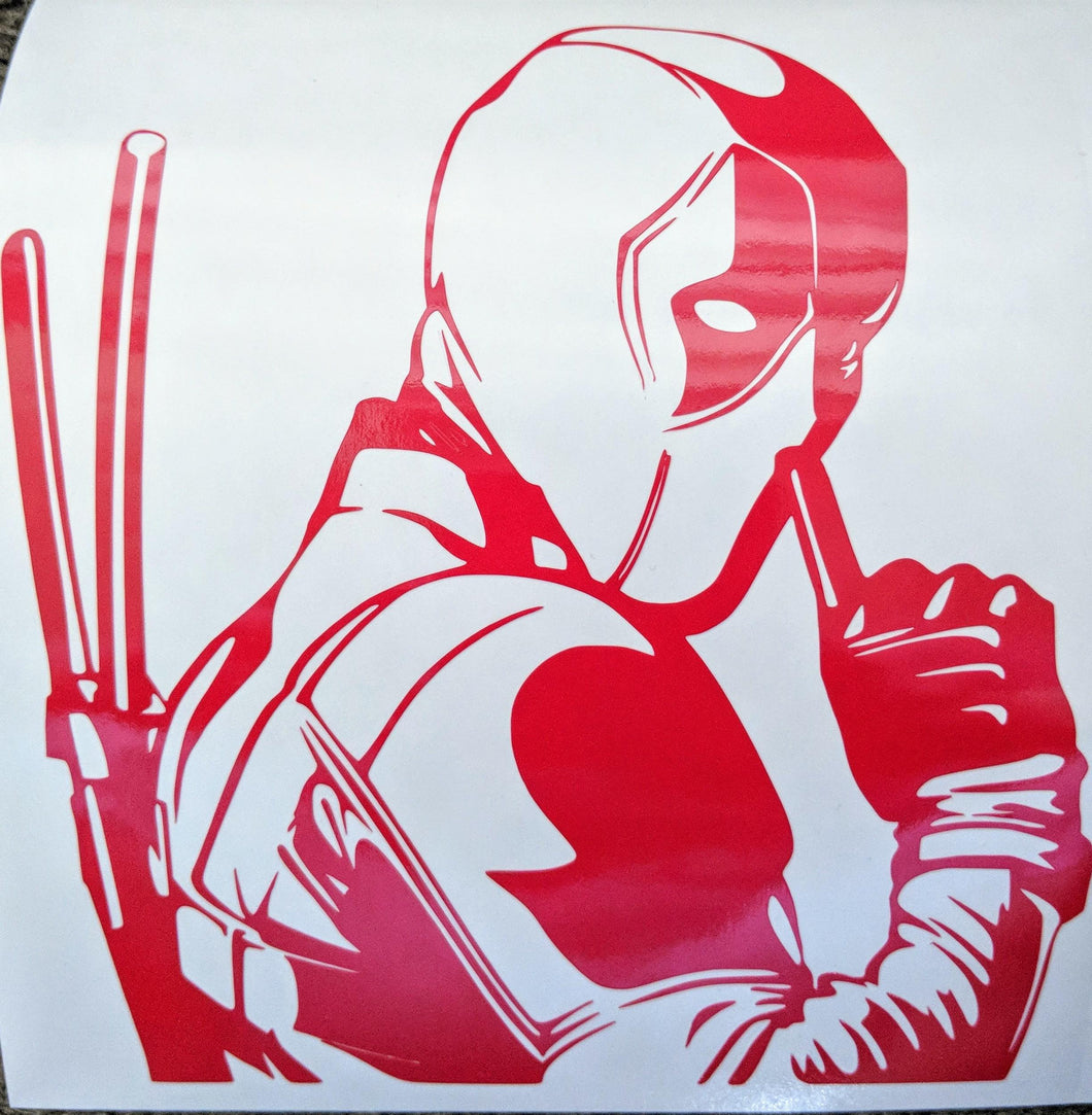 Deadpool Inspired Shhhh! Vinyl Decal for Car, Home, Yeti, Laptop
