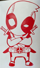 Load image into Gallery viewer, Chibi/ Cartoon Style Deadpool Vinyl Decal for Car, Home, Laptop, Yeti, Electronics and More!