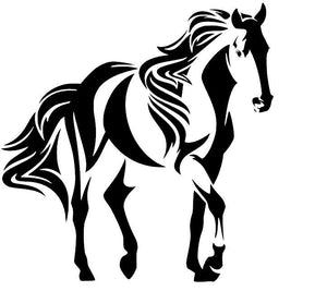 Copy of Horse Silhouette W/ Flowing Mane and Tail Vinyl Decal for Car, Home, Laptop