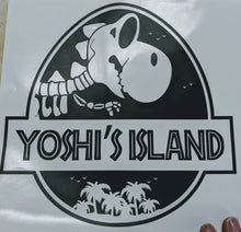 Load image into Gallery viewer, Jurassic Park/Yoshi's Island Mash Up Vinyl Decal for Car, Home, Yeti, Laptop, Tumbler