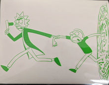 Load image into Gallery viewer, Rick and Morty Running W/ Portal Vinyl Decal for Home, Car, Laptop, Electronics