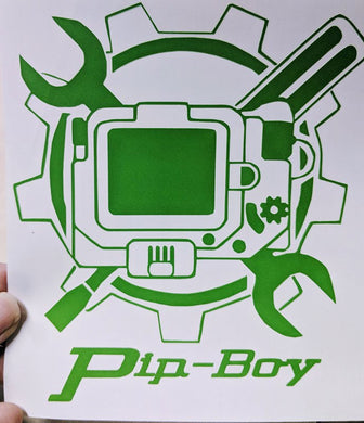 Custom Fallout Pip-Boy Vinyl Decal for Car, Electronics, Home, Yeti Tumblers