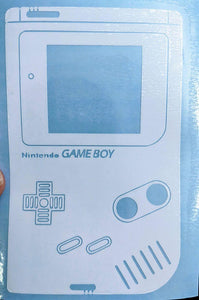 Classic Hand-Held Nintendo Gameboy Inspired Vinyl Decal for Car, Home, Laptop, Yeti