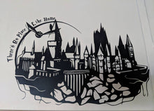 Load image into Gallery viewer, Hogwarts Castle Silhouette w/ Snitch and There's No Place Like Home Wall Decal