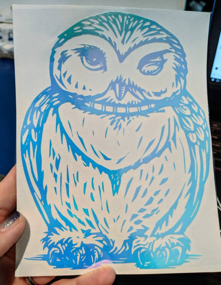 Harry Potter Inspired Winking Hedwig Owl Vinyl Decal for Car/Home/Yeti