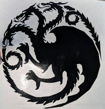 Load image into Gallery viewer, Game of Thrones Three Headed Dragon House Targaryen Sigil Vinyl Decal for Car, Home, Yeti, Laptop