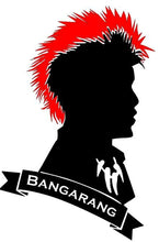Load image into Gallery viewer, Peter Pan/Hook's Rufio Vinyl Decal w/ Red Mohawk and Bangarang Banner for Car, Home, Yeti