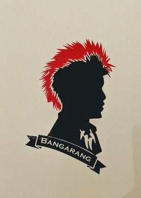 Peter Pan/Hook's Rufio Vinyl Decal w/ Red Mohawk and Bangarang Banner for Car, Home, Yeti