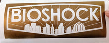 Load image into Gallery viewer, Detailed Bioshock Inspired Logo with Rapture Sil. Vinyl Decal for Car, Home, Electronics