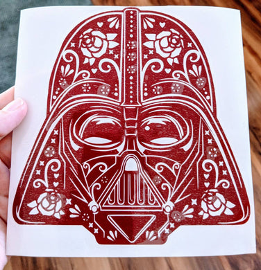 Star Wars Inspired Darth Vader Helmet Sugar Skull Vinyl Decal for Car, Home, Electronics