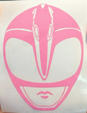 Mighty Morphin' Power Rangers Pink Ranger Helmet Vinyl Decal for Car/Home/School Supplies/Water Bottle/Yeti and More!
