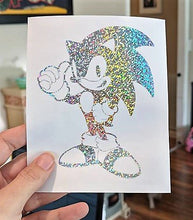 Load image into Gallery viewer, Sega's Sonic The Hedgehog in Starlight/ Rainbow Holographic Vinyl for Car/Home/Yeti