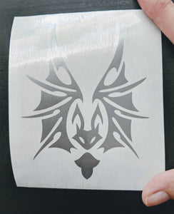 Tribal Bat w/ Open Wings Vinyl Decal for Car, Home, Laptop, Yeti
