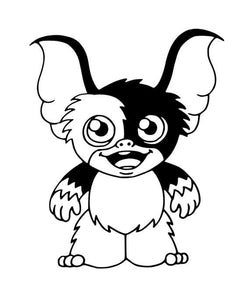 80's Movie Gremlin's Inspired Cartoon Chibi Style Gizmo Vinyl Decal for Car, Laptop, Yeti etc