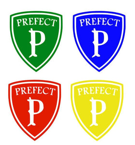 Harry Potter Prefect Badge Vinyl Decal in House Colors for Phone, Car, Home, Laptop, Yeti