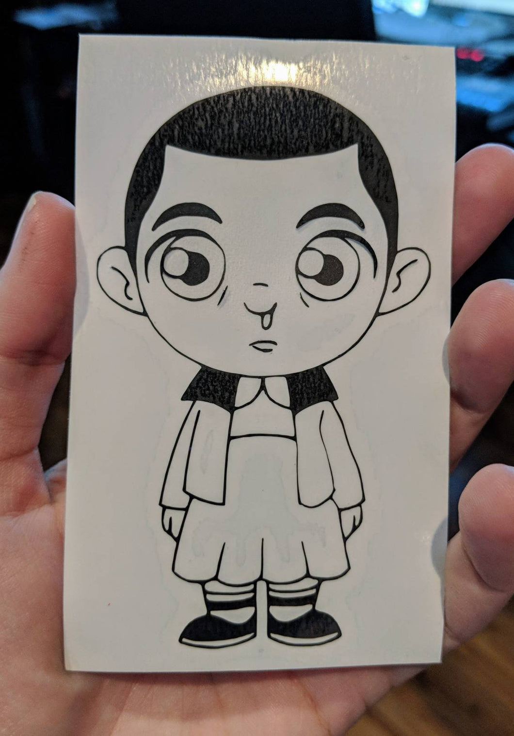 Stranger Things Inspired Chibi Style Eleven Vinyl Decal for Car, Home, Laptops, Yeti