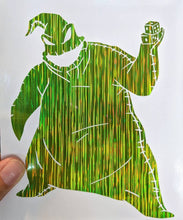 Load image into Gallery viewer, Nightmare Before Christmas Green Starlight Holographic Oogie Boogie for Car, Laptop, Yeti