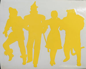 Wizard of Oz Dorothy, Tin Man, Scarecrow Cowardly Lion Vinyl Decal for Car,Home, Yeti, Laptop