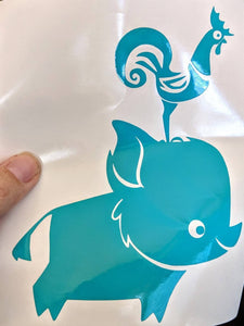 Disney's Moana Pua and Hei Hei Vinyl Decal for Car, Home, Laptop, Yeti