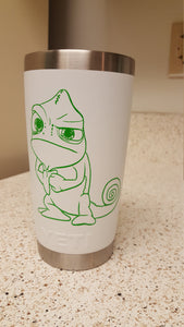 Tangled/Rapunzel Pascal Chameleon Making Fist Vinyl Decal for Car, Home, Yeti, Laptop, Kid's Room