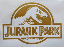 Load image into Gallery viewer, Classic Jurassic Park Logo Vinyl Decal for Car, Home, Electronics