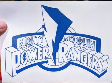 Original Mighty Morphin' Power Rangers Logo for Home, Car, Yeti, Laptop, Electronics