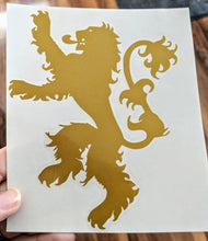 Load image into Gallery viewer, Hear Me Roar! Thrones Inspired Lannister Lion House Sigil for Car, Home, Yeti, Electronics
