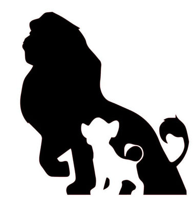 Disney's Lion King Inspired Simba/Mufasa Silhouette Decal for Home, Car, Laptop, Yeti