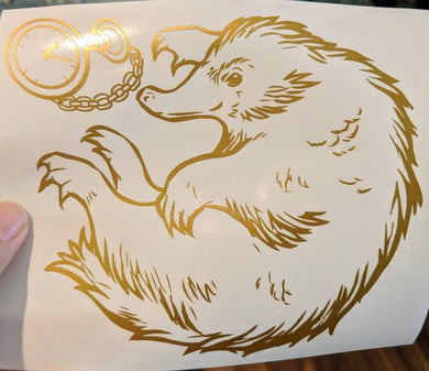 Harry Potter/Fantastic Beasts Niffler W/ Pocket Watch Decal